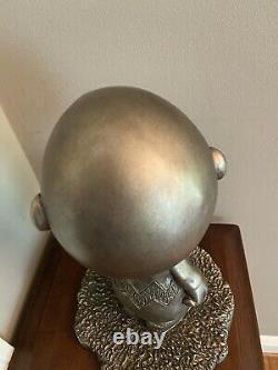 1999 Austin Sculpture Peanuts, Charlie Brown Bronze Color Day Dreamer Rare Mint