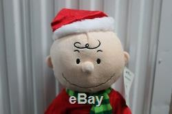 2-SET SNOOPY & CHARLIE BROWN GREETERS 21 Peanuts Christmas Plush Decoration NEW