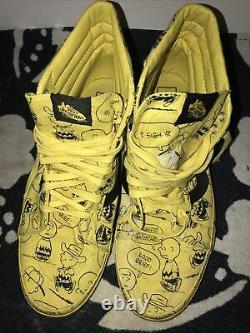 2017 Peanuts Vans Snoopy Charlie Brown Hi Yellow Maize Skater Shoes Men's 12