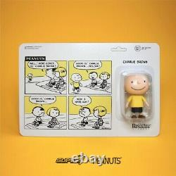 2018 Sdcc super 7 X Peanuts snoopy and Charlie brown figurines