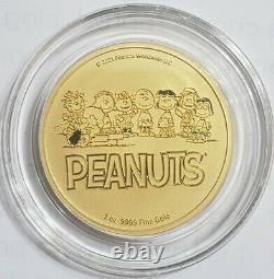 2021 1 Oz GOLD PEANUTS SNOOPY N CHARLIE BROWN VALENTINE Coin