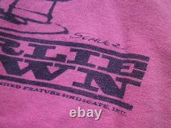 60s mayo SPRUCE Vintage Sweat Peanuts Charlie Brown Snoopy Pink L size