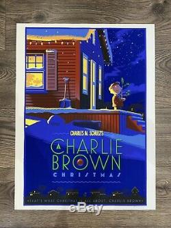 A Charlie Brown Christmas Laurent Durieux Very Rare Art Peanuts Snoopy 8/300