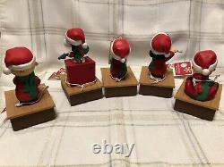 ALL 5 Hallmark Peanuts Christmas Band COMPLETE Snoopy Charlie Brown Music Motion
