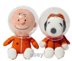 ASTRONAUT SNOOPY Charlie Brown PEANUT 50th Anniversary Doll Plush H/18cm 2Set
