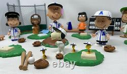 All Star Peanuts Charlie Brown Baseball Figure Lot Set Playset Snoopy RARE HTF