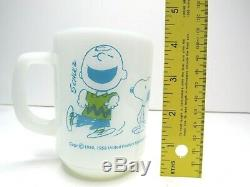 Anchor Hocking Fire King Charlie Brown Snoopy Feel Strangely Confident Mug MCM