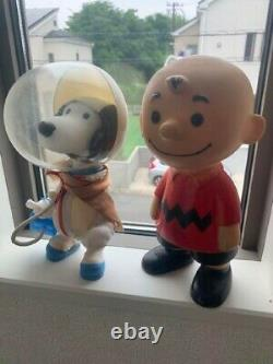 Astronaut Snoopy 1969 First Model NASA & Charlie Brown 1958 Set of 2 Vintage