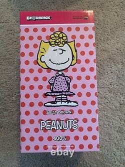 Authentic Medicom Be@rbrick The Peanuts Snoopy 400% Sally Brown Bearbrick