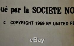 BOY NAMED CHARLIE BROWN original poster 1969! Rare cm 160 x 120 Snoopy Schulz