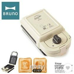 BRUNO Snoopy Peanut, Hot Sand Maker Single Press Sand Charlie Brown BOE068-ECRU