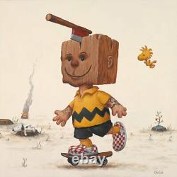 Bob Dob Block Head S/N X/30 Art Print. Charlie Brown Peanuts Snoopy Schulz