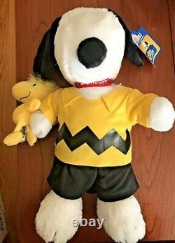 Build A Bear Peanuts Movie Snoopy & Woodstock Wristie Charlie Brown Outfit EUC