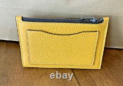 COACH X PEANUTS Slim Bifold Card Wallet With Charlie Brown C4307 Ochre Yellow