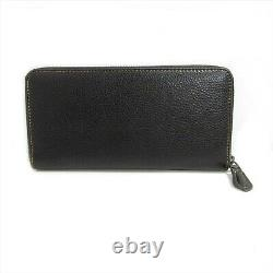 COACH x PEANUTS Snoopy BLACK Leather Zip Long Wallet Snoopy Charlie Brown New