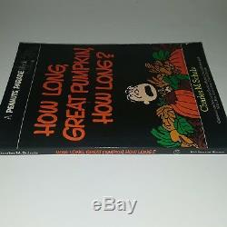 Charles M Schulz Signed Snoopy Peanuts Charlie Brown How Long Great Pumpkin