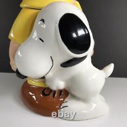 Charlie Brown And Snoopy Cookie Jar Large Westland Peanuts #20716 Vintage