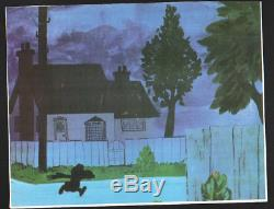 Charlie Brown Animation Production Hand Painted Cel With Background Snoopy