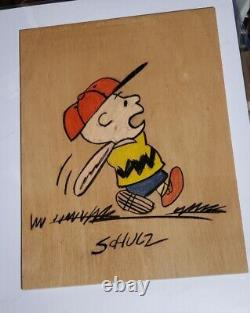 Charlie Brown Genuine Original Charles Schulz signed artwork PEANUTS Snoopy