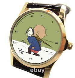 Charlie Brown und Snoopy Klassiker PEANUTS Kunst 30 mm Unisex-Armbanduhr