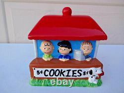 Cookie Jar Peanuts Gang Snoopy, Charlie Brown, Lucy, Linus, by Westland Giftware