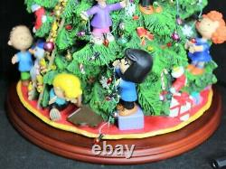 Danbury Mint Peanuts Christmas Tree with Box Light-Up Snoopy Charlie Brown