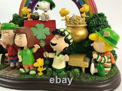Danbury Mint Peanuts LUCK of the IRISH St Patrick's Day Charlie Brown Figurine