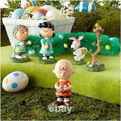 Department 56 Peanuts Snoopy Charlie Brown Easter Egg Hunt 6 Piece Figurine Set