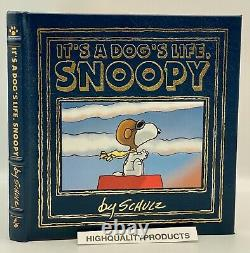 Easton Press ITS A DOGS LIFE, SNOOPY Charlie Brown PEANUTS Collectors Edition