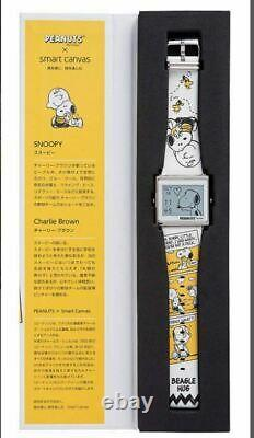 Epson Smart Canvas Peanuts Charlie Brown BEAGLE HUG Snoopy Digital Wrist Watch