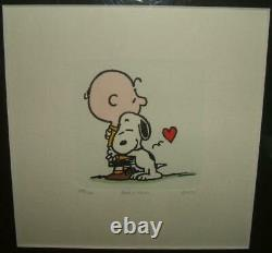 Framed Limited Edition (295/500) Sowa & Reiser HC Etching Snoopy & Charlie Brown