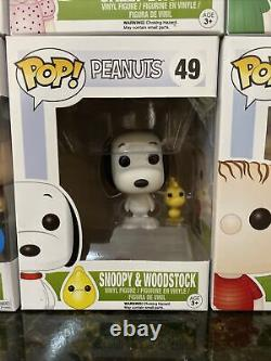 Funko Pop Lot Set Peanuts Snoopy Charlie Brown Lucy Sally Linus Peppermint OLAF