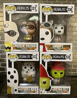 Funko Pop Peanuts Halloween Snoopy Charlie Brown Lucy Ghost Witch lot set 30-33