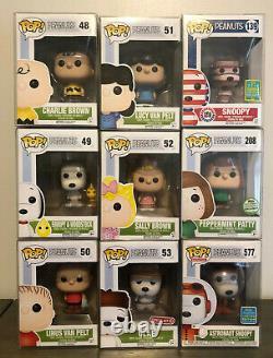 Funko Pop Peanuts Lot Charlie Brown, Sally, Olaf, Peppermint Patty, Snoopy etc