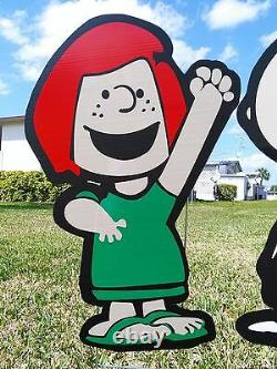 Garden outdoor Charlie Brown and Lucy Combo lawn snoopy yard art decor