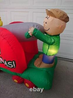 Gemmy Peanuts Airblown Charlie brown snoopy seesaw teeter totter 5 Ft
