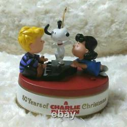 Hallmark Peanuts 50th anniversary Charlie Brown Ornament Snoopy Christmas Rare