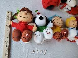 Hallmark Peanuts Charlie Brown Plush Christmas Full Set Lot Piano Snoopy 2009