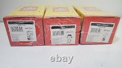 Hallmark Peanuts Gallery Limited Edition LOT OF 3 Figurines New! Charlie Brown