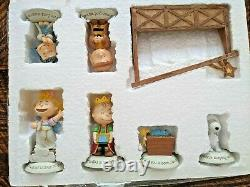 Hallmark Peanuts Gang Charlie Brown Snoopy Retired Nativity Full Set 11 Piece