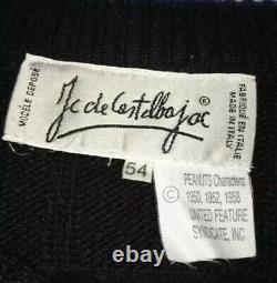 JC DeCastelbajac VTG 90s Peanuts Snoopy Charlie Brown Wool Blend Sweater L/XL