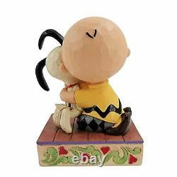 Jim Shore Peanuts Charlie Brown Hugging Snoopy Figurine 4.5 Statue