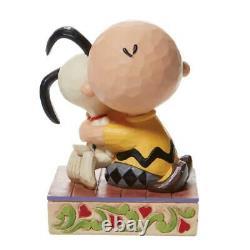 Jim Shore Peanuts Charlie Brown Snoopy Hugging Figurine 6007936