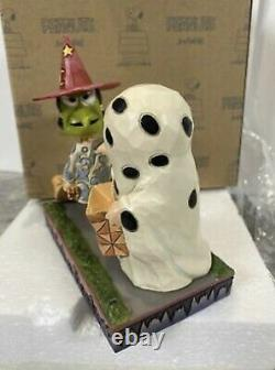 Jim Shore Peanuts Halloween Charlie Brown Ghost Lucy Witch I GOT A ROCK 6002775
