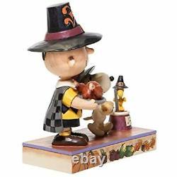 Jim Shore Peanuts Thanksgiving Charlie Brown Snoopy & Woodstock Figurine 6006943