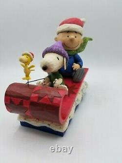 Jim Shore Snow Day Snoopy Charlie Brown Christmas Figurine w Box