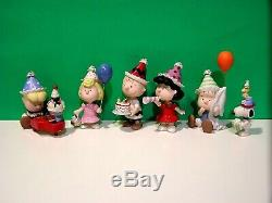 LENOX PEANUTS BIRTHDAY PARTY NEW BOX withCOA Snoopy Linus Lucy Sally Charlie Brown
