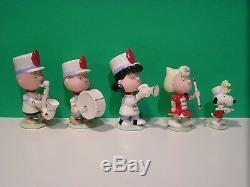 LENOX PEANUTS MARCHING BAND set NEW n BOX withCOA Snoopy Linus Sally Charlie Brown