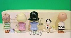 LENOX Peanuts IT'S THE EASTER BEAGLE CHARLIE BROWN Set NEW in BOX COA Snoopy