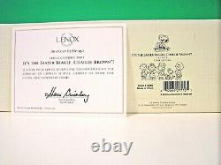 LENOX Peanuts IT'S THE EASTER BEAGLE CHARLIE BROWN Set Snoopy NEW in BOX withCOA